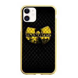 Чехол iPhone 11 матовый Wu-Tang Clan: Grid цвета 3D-желтый — фото 1