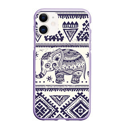 Чехол iPhone 11 матовый Африка цвета 3D-светло-сиреневый — фото 1