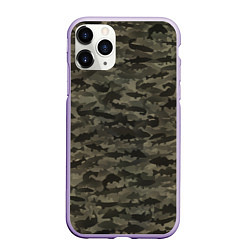 Чехол iPhone 11 Pro матовый Камуфляж рыбака цвета 3D-светло-сиреневый — фото 1