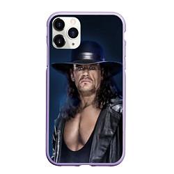 Чехол iPhone 11 Pro матовый Гробовщик 3 цвета 3D-светло-сиреневый — фото 1