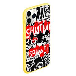 Чехол iPhone 11 Pro матовый Shut up & squat цвета 3D-желтый — фото 2