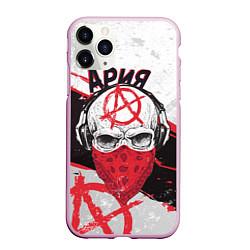 Чехол iPhone 11 Pro матовый Ария: Анархия цвета 3D-розовый — фото 1