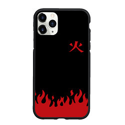 Чехол iPhone 11 Pro матовый HOKAGE MINATO на спине цвета 3D-черный — фото 1