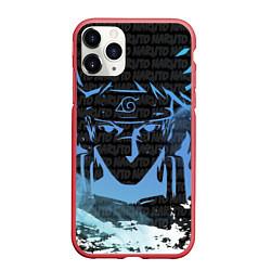 Чехол iPhone 11 Pro матовый NARUTO цвета 3D-красный — фото 1