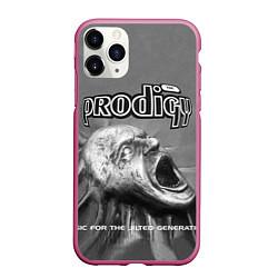 Чехол iPhone 11 Pro матовый The Prodigy: Madness цвета 3D-малиновый — фото 1