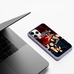 Чехол iPhone 11 Pro матовый Bullet for my valentine цвета 3D-светло-сиреневый — фото 2