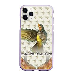 Чехол iPhone 11 Pro матовый Imagine Dragons: Fly цвета 3D-светло-сиреневый — фото 1