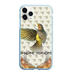 Чехол iPhone 11 Pro матовый Imagine Dragons: Fly цвета 3D-голубой — фото 1