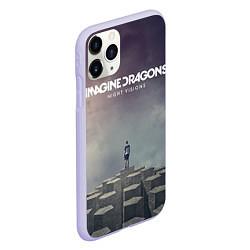 Чехол iPhone 11 Pro матовый Imagine Dragons: Night Visions цвета 3D-светло-сиреневый — фото 2