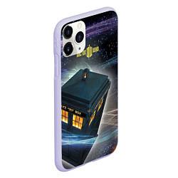Чехол iPhone 11 Pro матовый Police Box цвета 3D-светло-сиреневый — фото 2