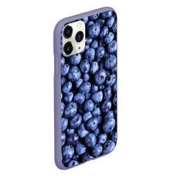 Чехол iPhone 11 Pro матовый Черника цвета 3D-серый — фото 2