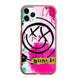 Чехол iPhone 11 Pro матовый Blink-182: Purple Smile цвета 3D-красный — фото 1