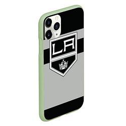 Чехол iPhone 11 Pro матовый Los Angeles Kings цвета 3D-салатовый — фото 2