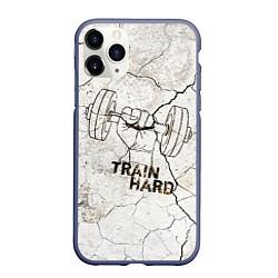 Чехол iPhone 11 Pro матовый Train hard