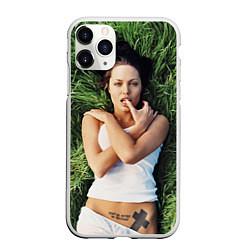 Чехол iPhone 11 Pro матовый Анджелина Джоли
