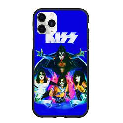 Чехол iPhone 11 Pro матовый Kiss Show цвета 3D-черный — фото 1