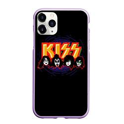 Чехол iPhone 11 Pro матовый KISS: Death Faces