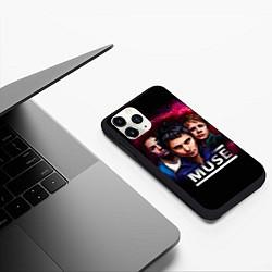 Чехол iPhone 11 Pro матовый Muse Band цвета 3D-черный — фото 2