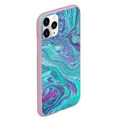 Чехол iPhone 11 Pro матовый Смесь красок цвета 3D-розовый — фото 2