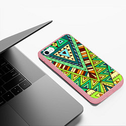 Чехол iPhone 6/6S Plus матовый Этно цвета 3D-баблгам — фото 2