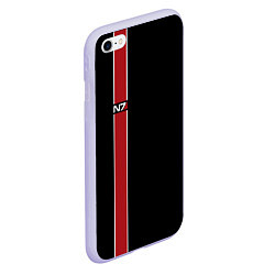Чехол iPhone 6/6S Plus матовый Mass Effect N7 цвета 3D-светло-сиреневый — фото 2