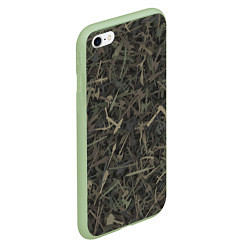 Чехол iPhone 6/6S Plus матовый Камуфляж с холодным оружием цвета 3D-салатовый — фото 2