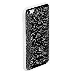 Чехол iPhone 6/6S Plus матовый Joy Division: Unknown Pleasures цвета 3D-белый — фото 2