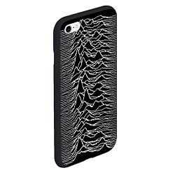 Чехол iPhone 6/6S Plus матовый Joy Division: Unknown Pleasures цвета 3D-черный — фото 2
