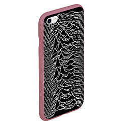 Чехол iPhone 6/6S Plus матовый Joy Division: Unknown Pleasures цвета 3D-малиновый — фото 2