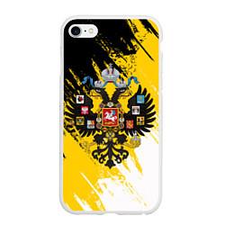 Чехол iPhone 6/6S Plus матовый Имперский флаг и герб цвета 3D-белый — фото 1