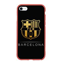 Чехол iPhone 6/6S Plus матовый Barcelona Gold Edition цвета 3D-красный — фото 1