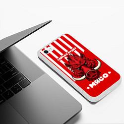 Чехол iPhone 6/6S Plus матовый Сейчас будет мясо цвета 3D-белый — фото 2