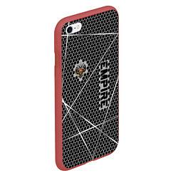 Чехол iPhone 6/6S Plus матовый Империя цвета 3D-красный — фото 2