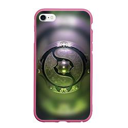 Чехол iPhone 6/6S Plus матовый The International: Aegis 2018 цвета 3D-малиновый — фото 1