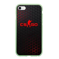 Чехол iPhone 6/6S Plus матовый CS:GO Grey Carbon цвета 3D-салатовый — фото 1