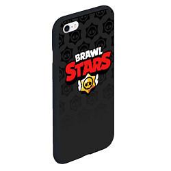 Чехол iPhone 6/6S Plus матовый Brawl Stars: Black Team цвета 3D-черный — фото 2