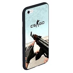 Чехол iPhone 6/6S Plus матовый Counter-Strike: De Dust цвета 3D-черный — фото 2