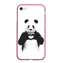 Чехол iPhone 6 Plus/6S Plus матовый Panda Love