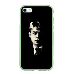 Чехол iPhone 6 Plus/6S Plus матовый Есенин Ч/Б
