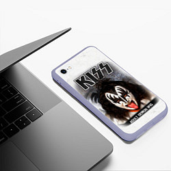 Чехол iPhone 6/6S Plus матовый KISS: Adult demon wig цвета 3D-светло-сиреневый — фото 2