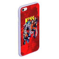 Чехол iPhone 6/6S Plus матовый KISS: Hot Blood цвета 3D-светло-сиреневый — фото 2