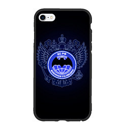 Чехол iPhone 6/6S Plus матовый Военная разведка цвета 3D-черный — фото 1