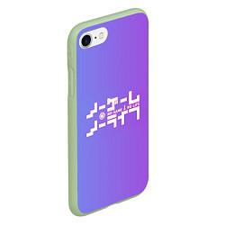 Чехол iPhone 7/8 матовый No Game No Life цвета 3D-салатовый — фото 2
