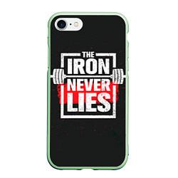 Чехол iPhone 7/8 матовый The iron never lies цвета 3D-салатовый — фото 1
