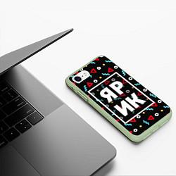 Чехол iPhone 7/8 матовый Ярик цвета 3D-салатовый — фото 2