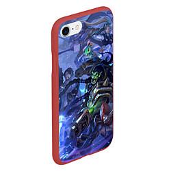 Чехол iPhone 7/8 матовый HotS 4 цвета 3D-красный — фото 2