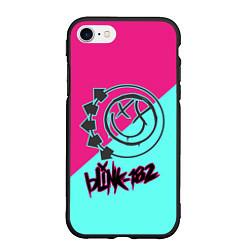 Чехол iPhone 7/8 матовый Blink-182 цвета 3D-черный — фото 1
