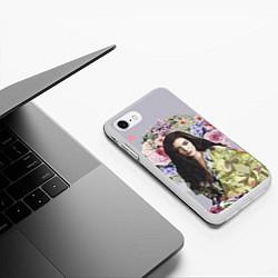 Чехол iPhone 7/8 матовый Lorde Floral цвета 3D-белый — фото 2