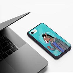 Чехол iPhone 7/8 матовый BoJack цвета 3D-черный — фото 2