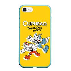 Чехол iPhone 7/8 матовый Cuphead: Don't deal with the Devil цвета 3D-мятный — фото 1